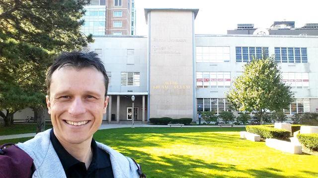 Alexandre Rossi em Boston (EUA), local de uma de suas palestras