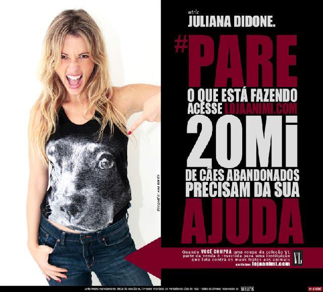 Juliana Didone apoia o Documentário Vira-Latas